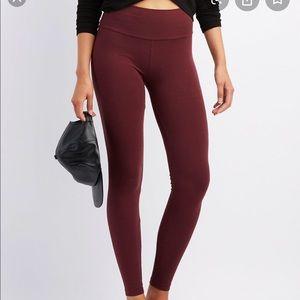 Charlotte Russe Burgundy Leggings Sz XL